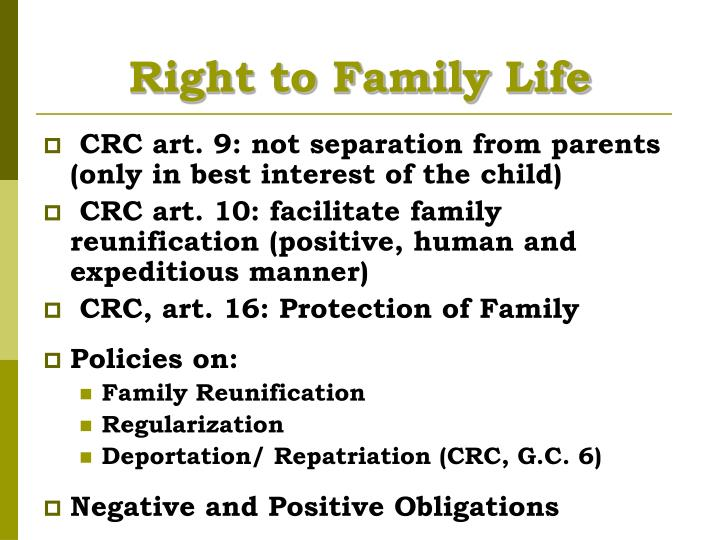 Right to Family Life
