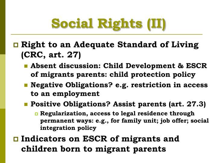 Social Rights (II)