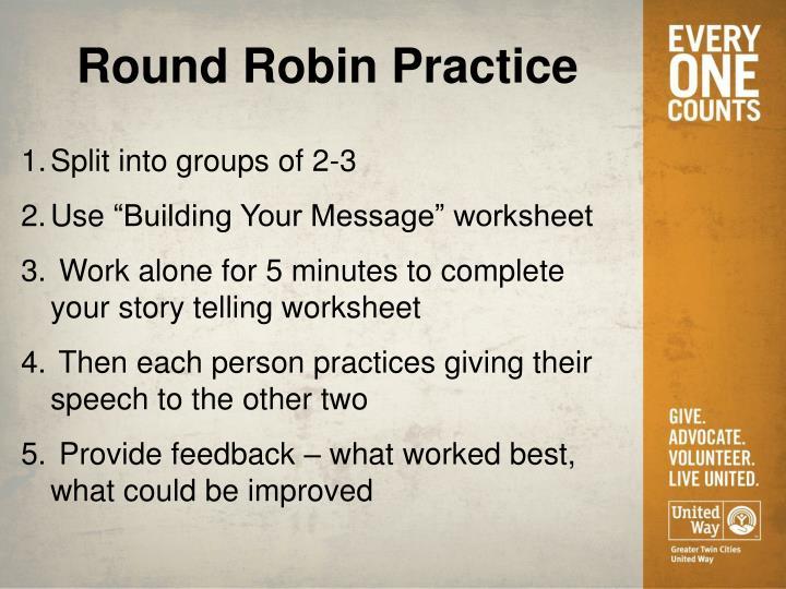 Round Robin Practice