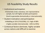 us feasibility study results