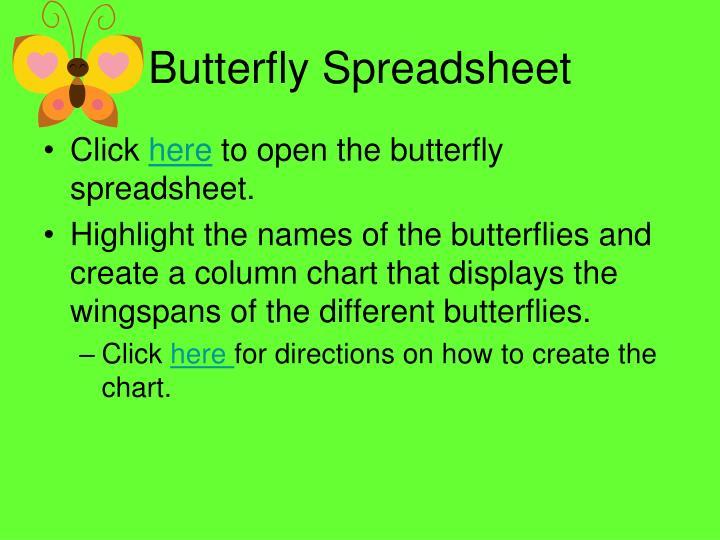 Butterfly spreadsheet