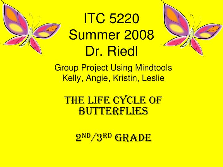 Itc 5220 summer 2008 dr riedl