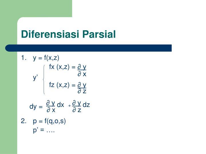 Diferensiasi parsial