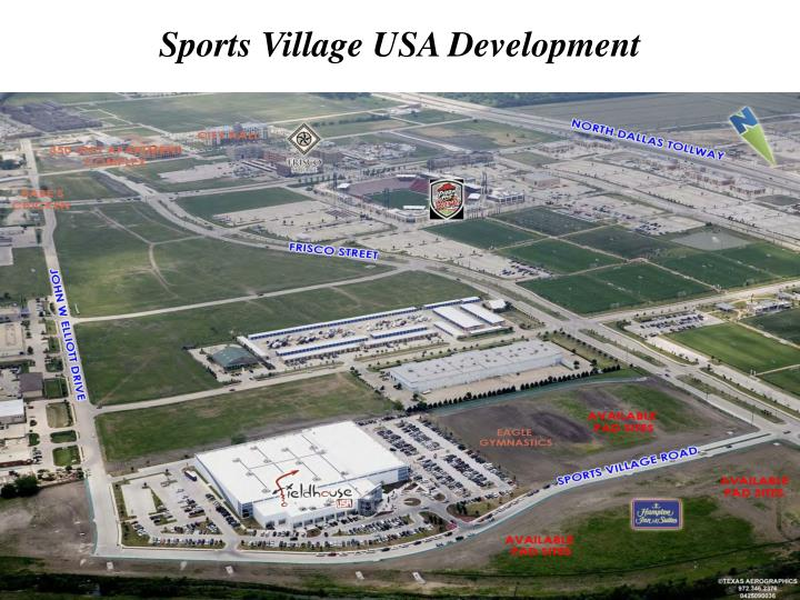 Sports village usa development
