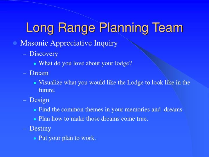 Long Range Planning Team