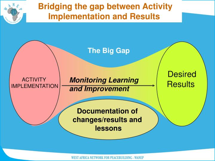 Bridging the gap between Activity Implementation and Results