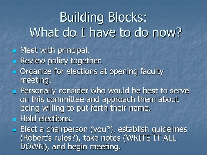 Building Blocks: