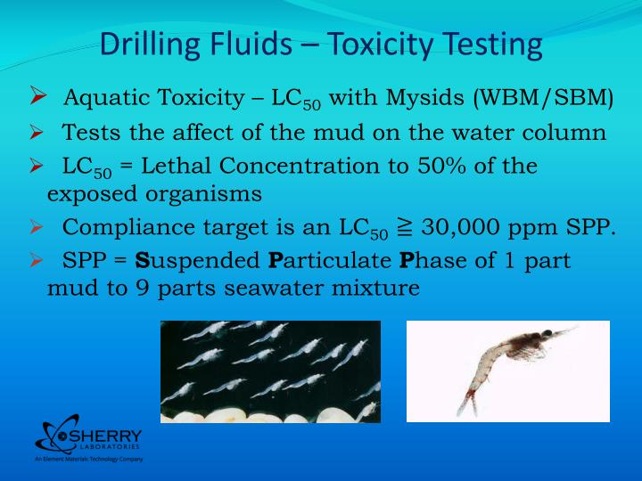 Drilling fluids toxicity testing