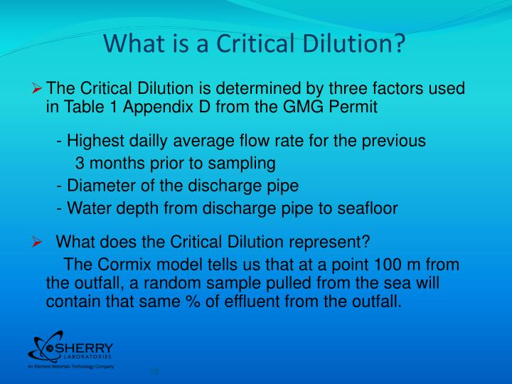 What is a Critical Dilution?