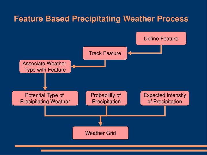 Feature Based Precipitating Weather Process