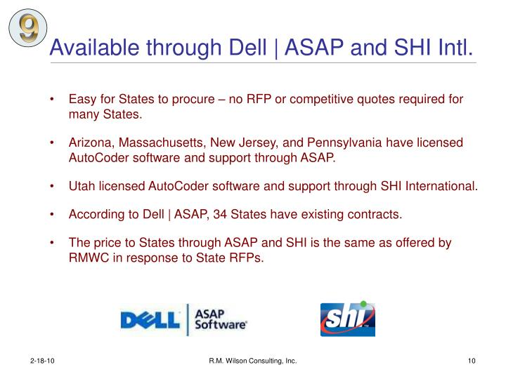 Available through Dell   ASAP and SHI Intl.