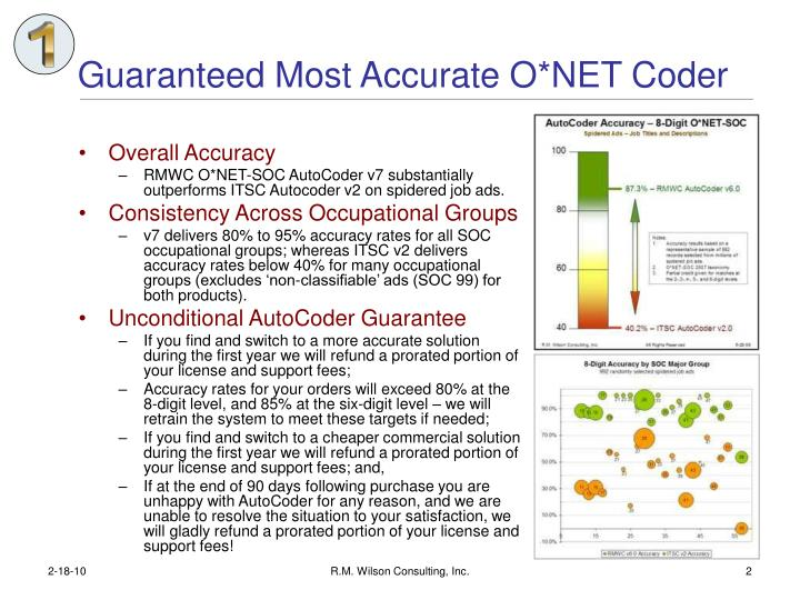 Guaranteed most accurate o net coder