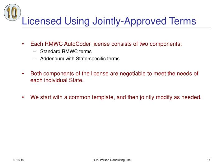 Licensed Using Jointly-Approved Terms