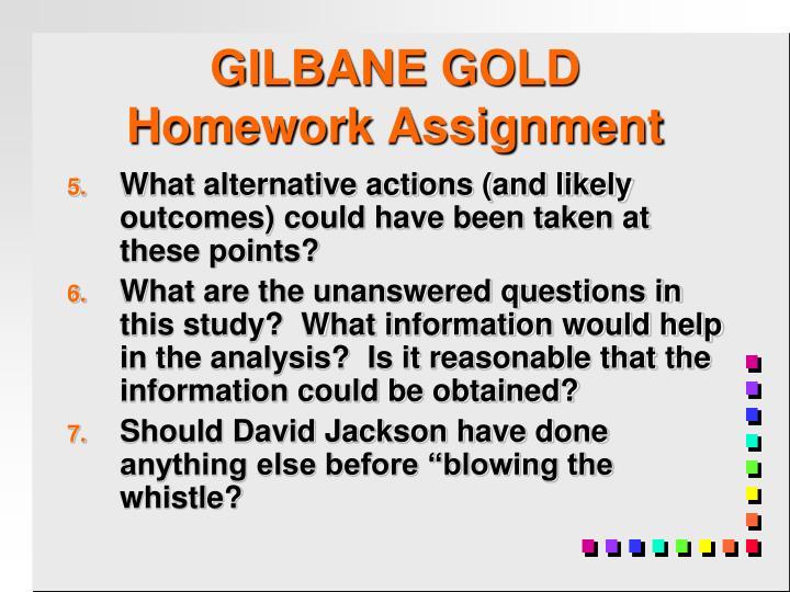 GILBANE GOLD
