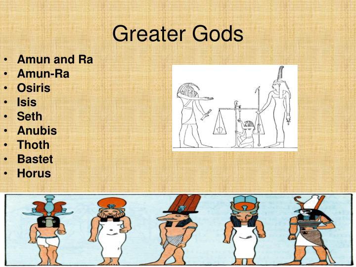 Greater gods