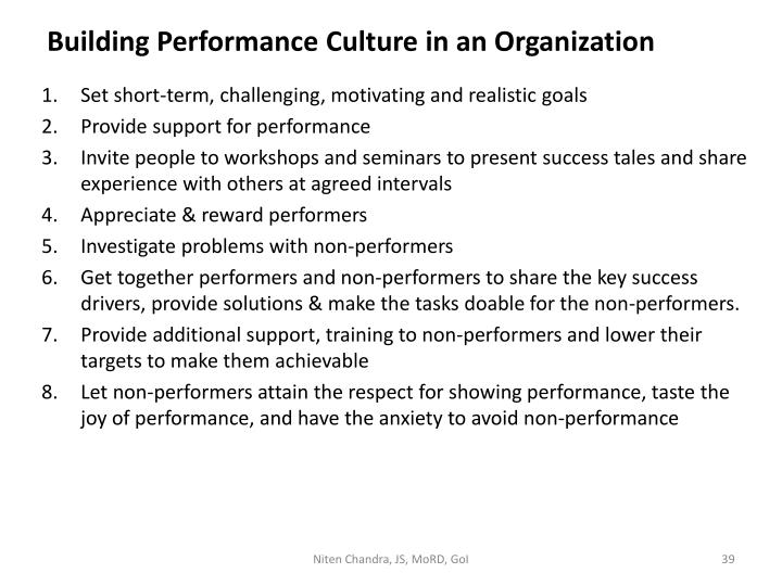 Building Performance Culture in an Organization