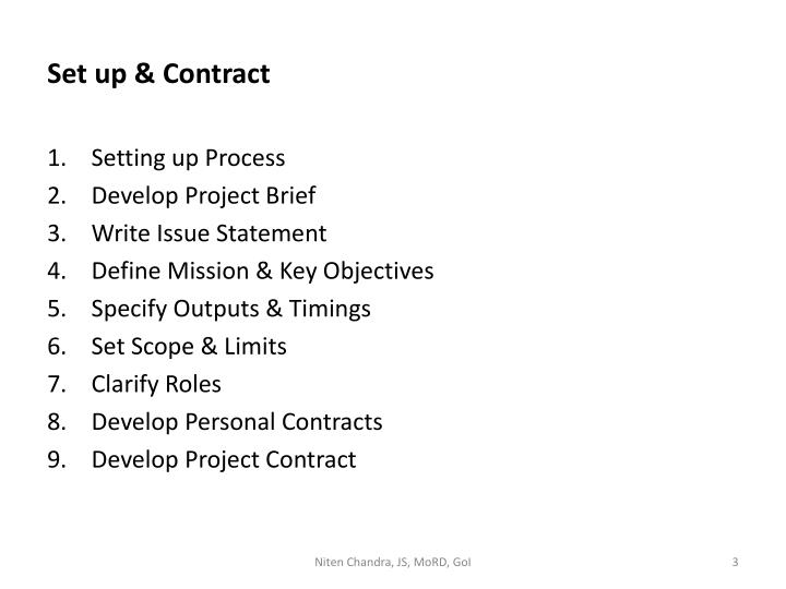 Set up contract