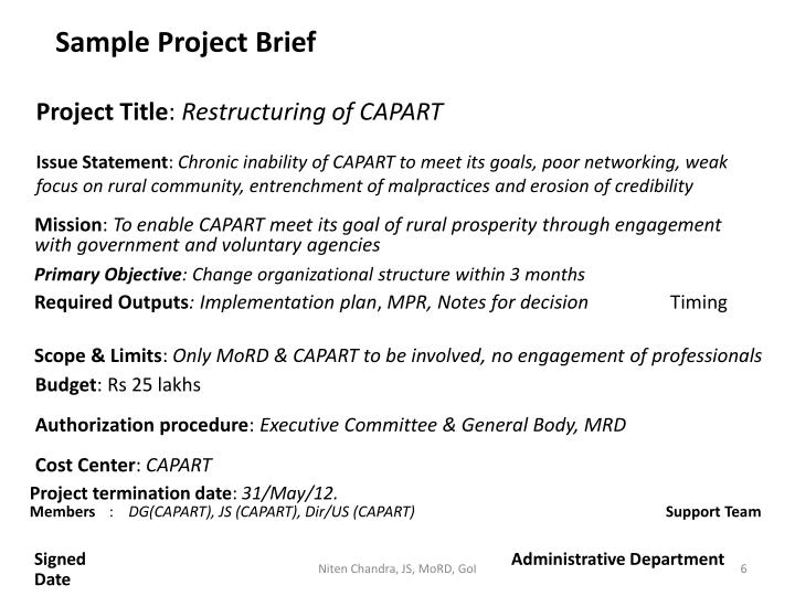 Sample Project Brief