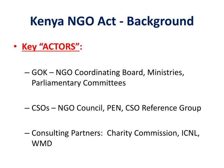 Kenya ngo act background