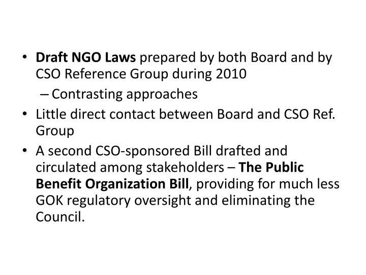 Draft NGO Laws