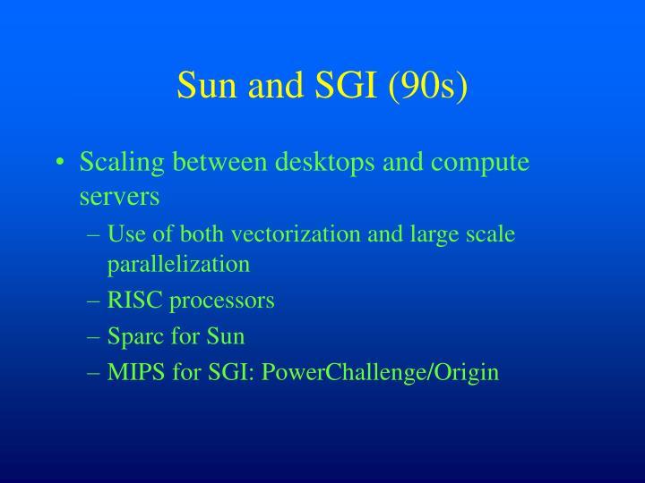 Sun and SGI (90s)