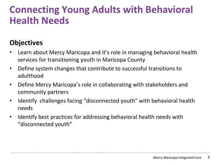 C onnecting young adults with behavioral h ealth n eeds