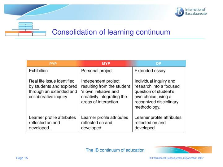 Consolidation of learning continuum