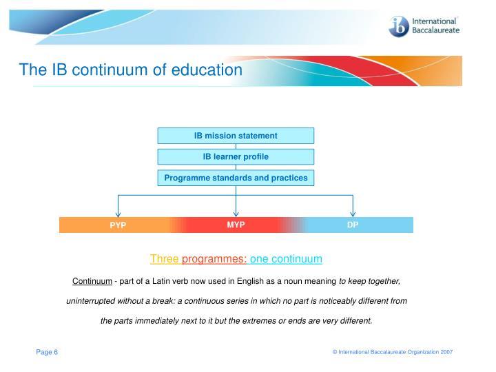 The IB continuum of education