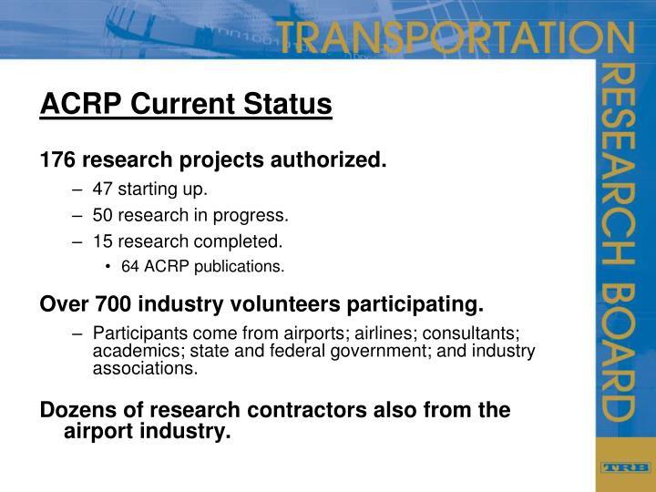 ACRP Current Status