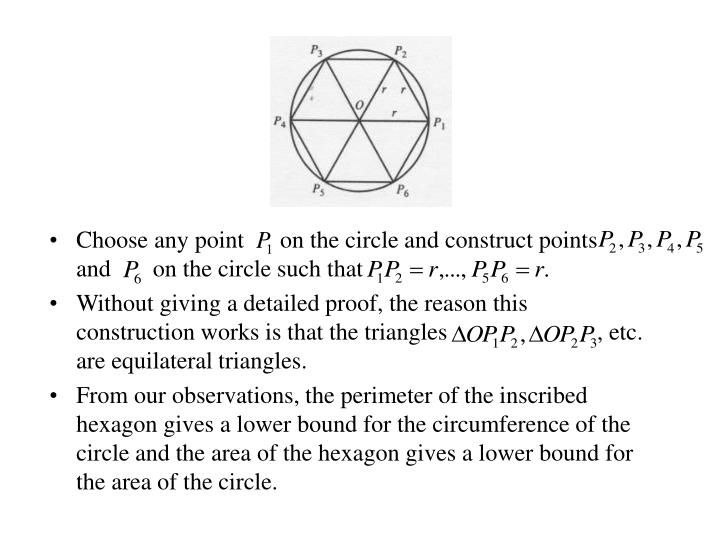 Choose any point      on the circle and construct points     and       on the circle such that