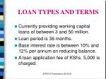 loan types and terms