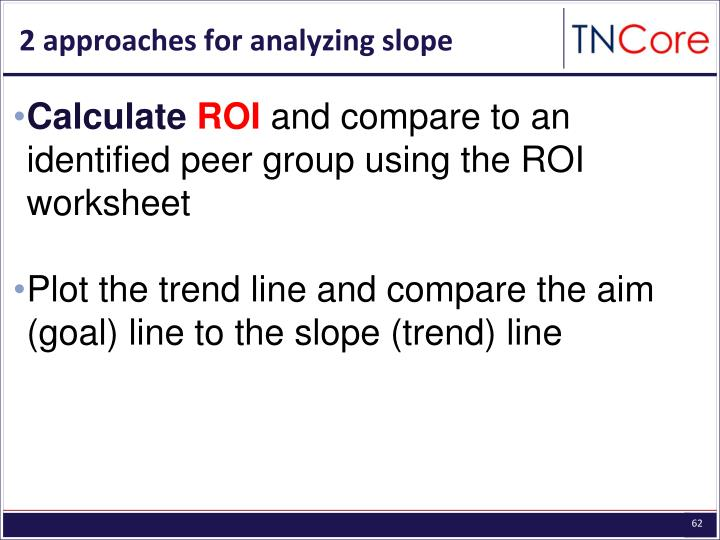 2 approaches for analyzing slope