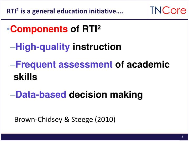Rti 2 is a general education initiative
