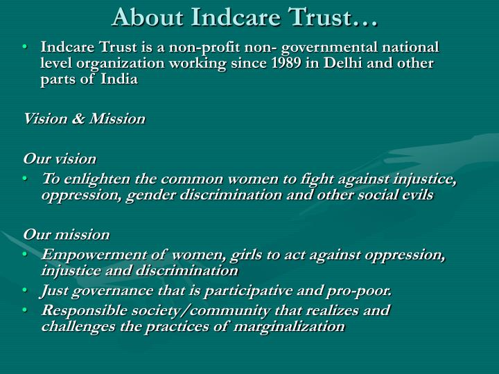 About indcare trust