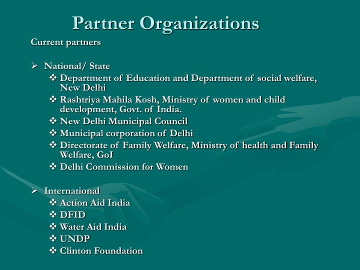 Partner Organizations