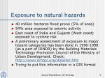 exposure to natural hazards