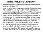 national productivity council npc