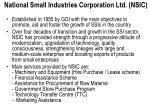 national small industries corporation ltd nsic