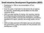 small industries development organization sido