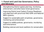 1 forest and land use governance policy and advocacy