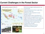current challenges in the forest sector