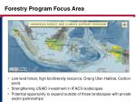 forestry program focus area