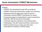 sector assessment forest mechanisms