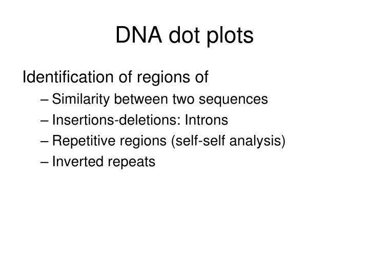 Dna dot plots