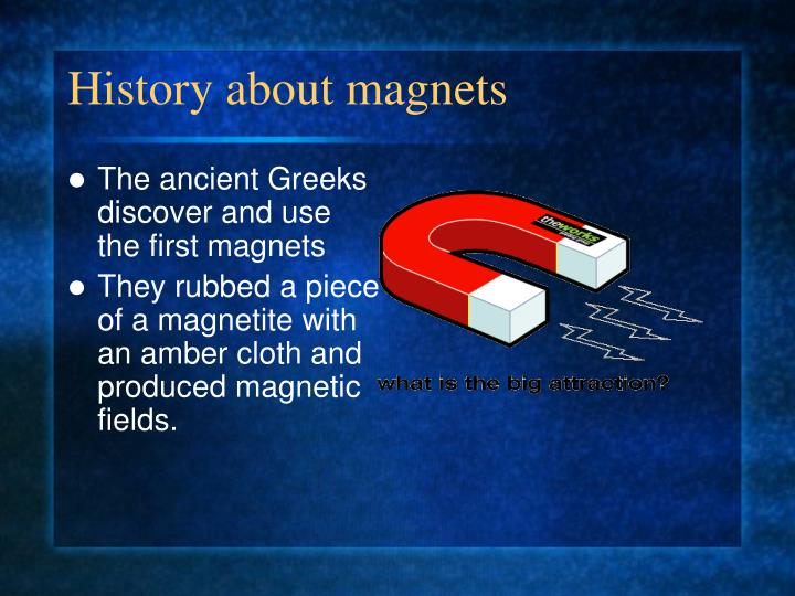 History about magnets