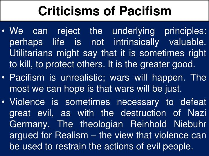 Criticisms of Pacifism