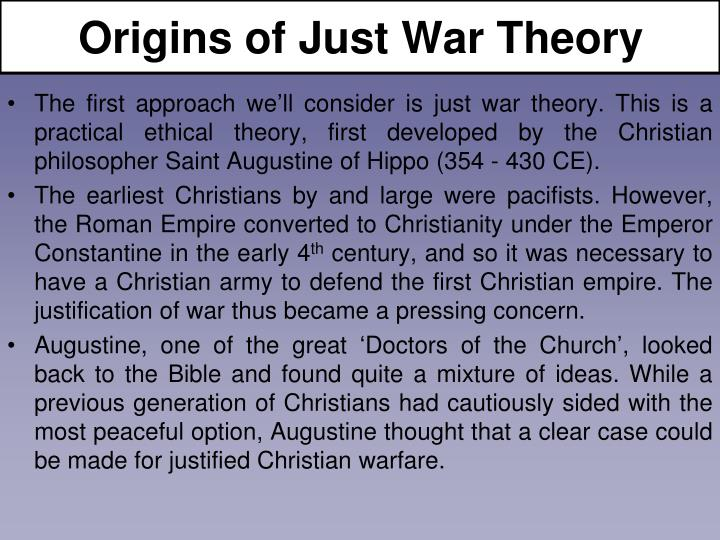 Origins of just war theory