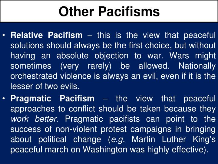 Other Pacifisms