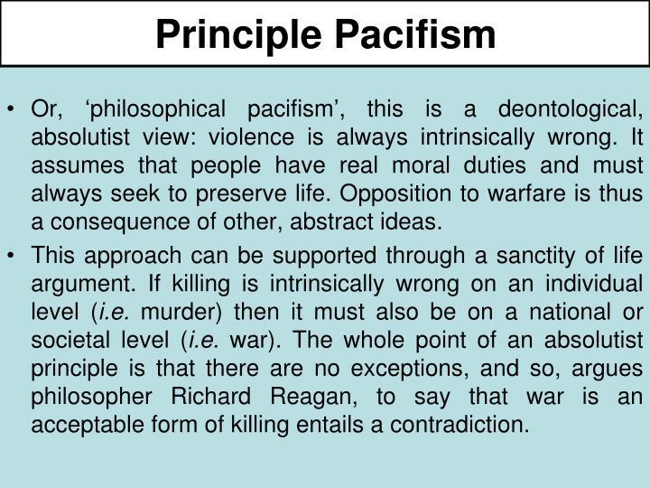 Principle Pacifism