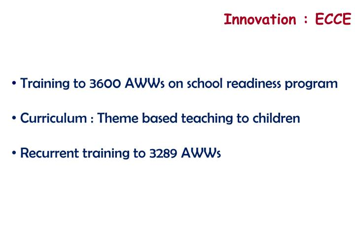 Innovation : ECCE